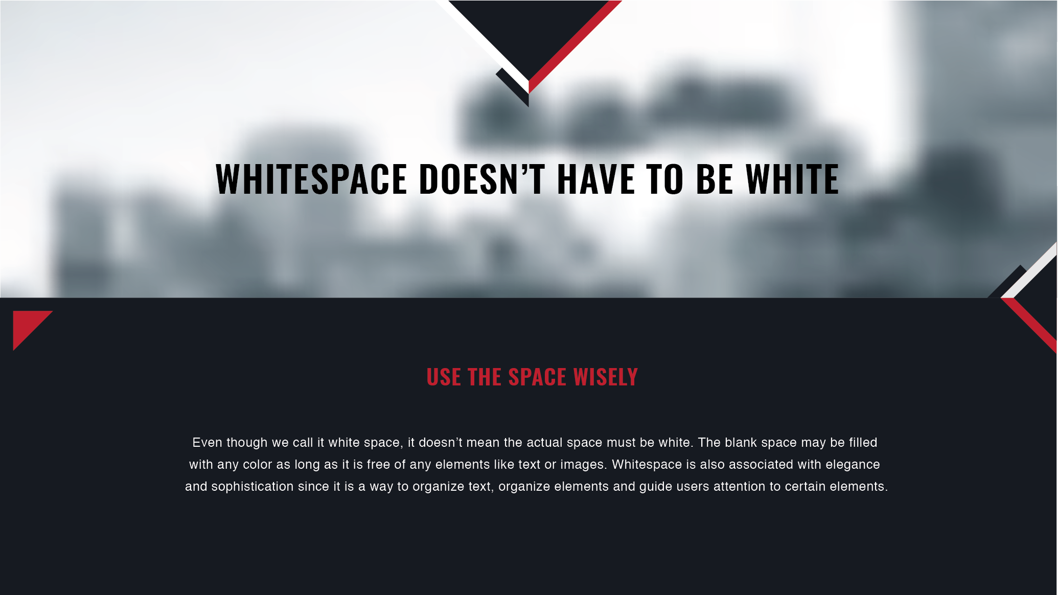 Whitespace does not have to be white.