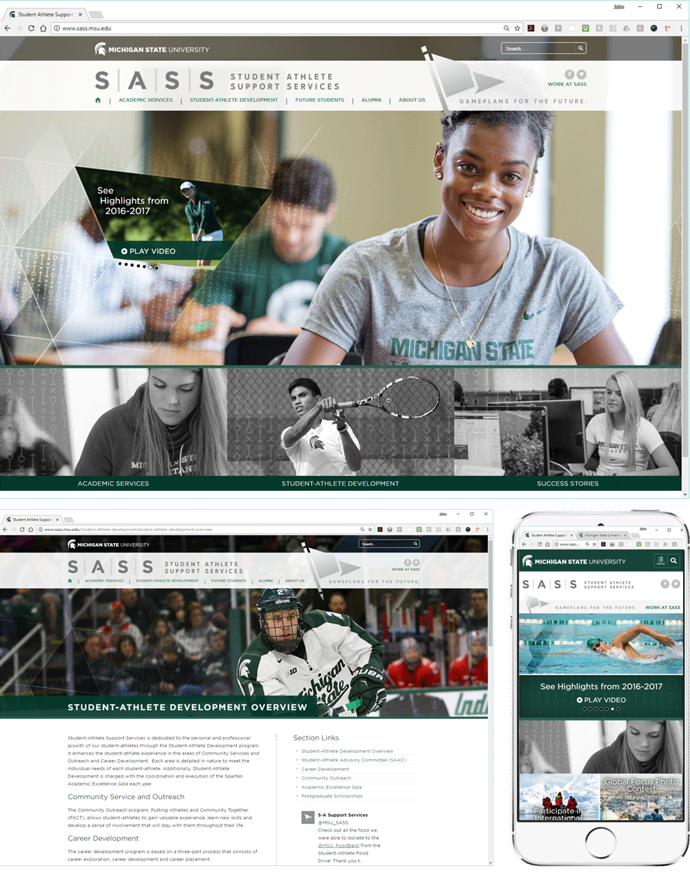 Student Athlete Support Services Website
